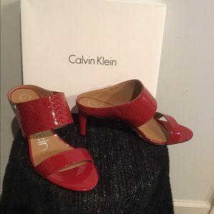 Calvin Klein Cecily Dress Sandal Heels. New.